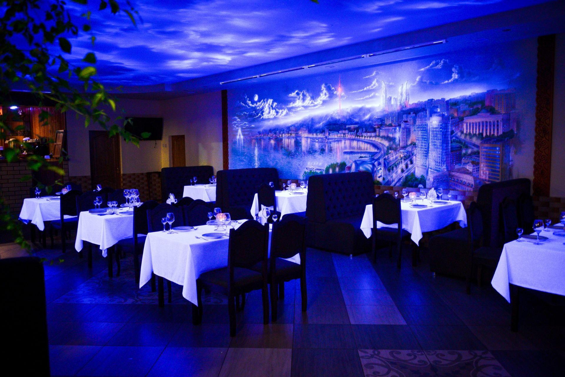 ресторан Бакинский дворик интерьер